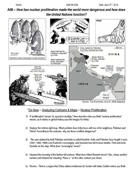 Global History 10th Grade - Unit 39 Spread of Global Conflicts - Day 3 Handout