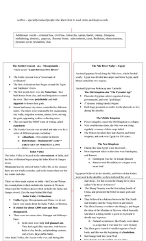 Global History - 9th Grade - Midterm Review Packet