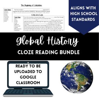Global History Cloze Reading Bundle