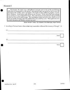 Global History DBQ Essay - Economics Packet
