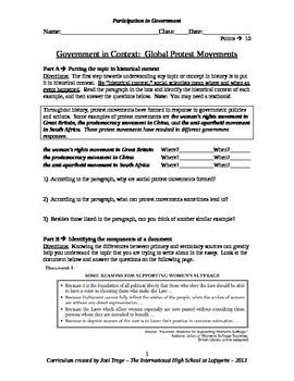 Global History DBQ Essay - Government