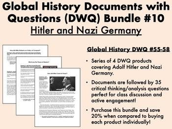 Global History DWQ Bundle #10 - Hitler and Nazi Germany