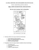 Global History & Geography II Regents - Industrial Revolution
