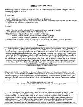 Global History & Geography II Regents - Scientific Revolution