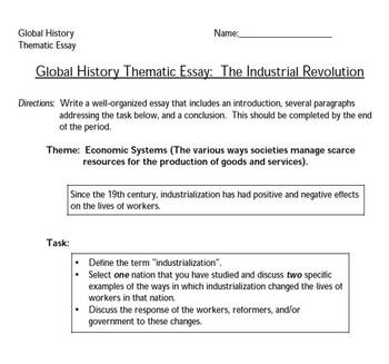 global thematic on geographical features essay Just in time to review for the june regents exam period the january 2017 new york state regents exam in global history & geography is now available with extra help for the thematic and dbq essays.