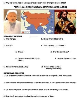 Global History 9th grade (2nd Sem) Study Guide Units 11-20 - REGENTS ALIGNED