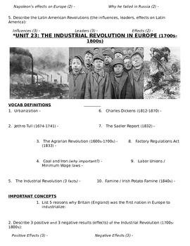 Global History 10th grade (1st Sem) Study Guide Units 21-30 - REGENTS ALIGNED