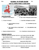 Global - Study Guide - Units 11-20/20 - 10th grade