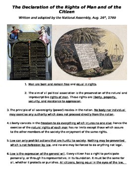 Global History - 10th Grade - Unit 22 - The Declaration of the Rights of Man