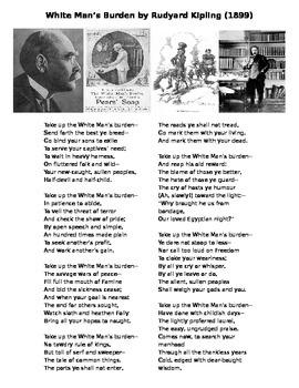 Global History 10th Grade - Unit 25 Age of European Imperialism - W.M.B. Poem