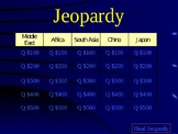 Global History Jeopardy Review Game