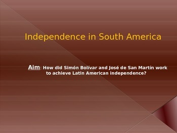 Global History Latin American Independence
