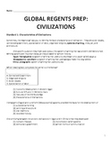 Global History Regents Review Packet / Prep - Civilizations