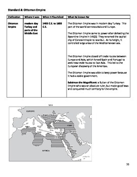 Global History Regents Review Packet / Prep - Civilizations