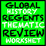 Global History Regents Review: Thematic graphic organizer/