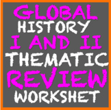 Global History I and Global History II Thematic Review Sheet (9th/10th Grade)