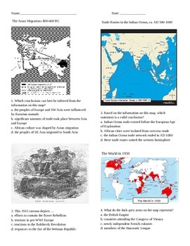 Global History Review: Map and Graphing skills