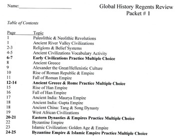 Global History Review Packet #1