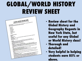 Global/World History Review Sheet
