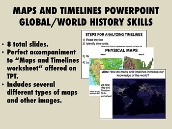 Global/World History Skills - Maps and Timelines PowerPoint