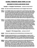 Global History - Thematic Essay Topic 17/20 Body Outline Example