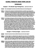 Global History - Thematic Essay Topic 20/20 Body Outline Example