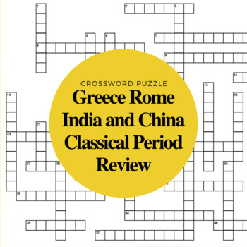 World History Classical Period Review Crossword Puzzle