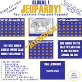 Global I Final Review Jeopardy! *BUNDLE*