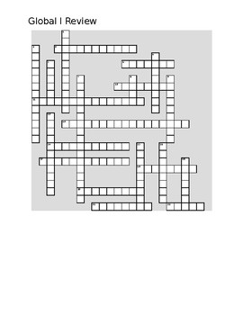 Global I Review Crossword
