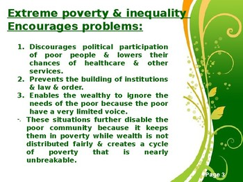 Global Inequality Powerpoint - Global Issues