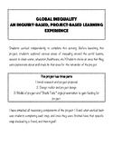 Global Inequality: Project Based Learning