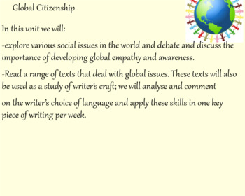 Global Issues Literacy Unit