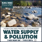 Water Pollution Sustainability Conservation Unit Print & Digital