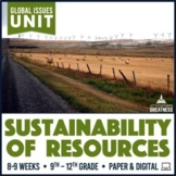 Resource Sustainability Water Garbage Fossil Fuel PBL Unit Print & Digital