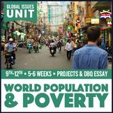 Human Geography World Population and World Poverty PBL Unit Print & Digital