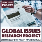Contemporary World Problems Global Issues Sustainability Research Project