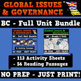 Global Issues and Governance - BC Grade 6 Reading & Activity Sheets Bundle