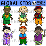 Multicultural Kids from Around the World Clip Art - Set 1