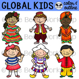 Multicultural Kids from Around the World Clip Art - Set 2