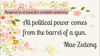 Global Literacy Journal Writing Prompts - China