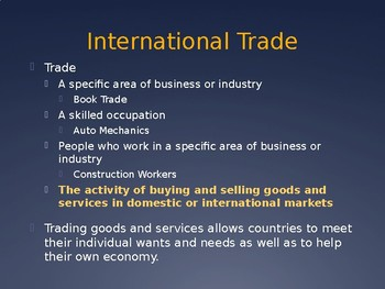 Global Marketplace - Intro to Business Ch. 10