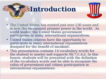 Global Policy - Participation in International Organizations - Vocabulary