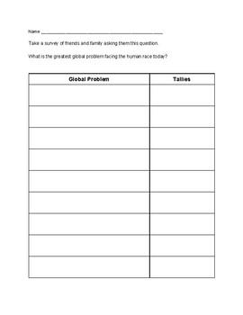 Global Problems Activity