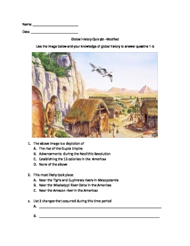 Global Quiz- Neolithic Revolution & Ancient Civilizations