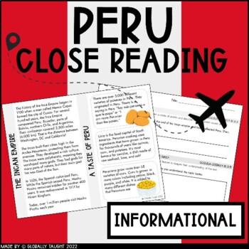 Global Readers: Peru Close Reading Passage