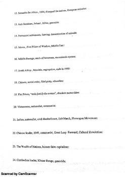 Global Regents Prep Word Association