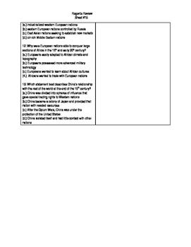 Global Regents Review Sheet #15 Industrial Revolution w/ Practice Questions