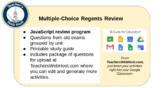 Global Regents Review Unit 10.6 JavaScript Multiple-Choice