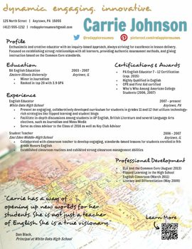 Creative Teacher Resume - Global Template