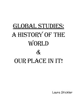 Global Studies Review Book:  A History of The World & Our Place In It